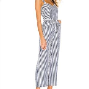 NWT PAIGE Emma Jumpsuit in Navy & White.